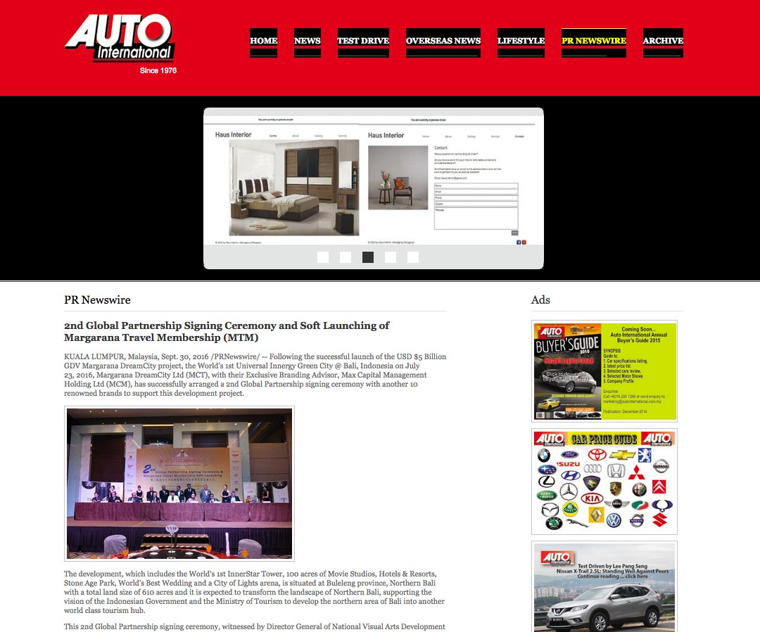 Auto International (Friday, 30 September 2016)