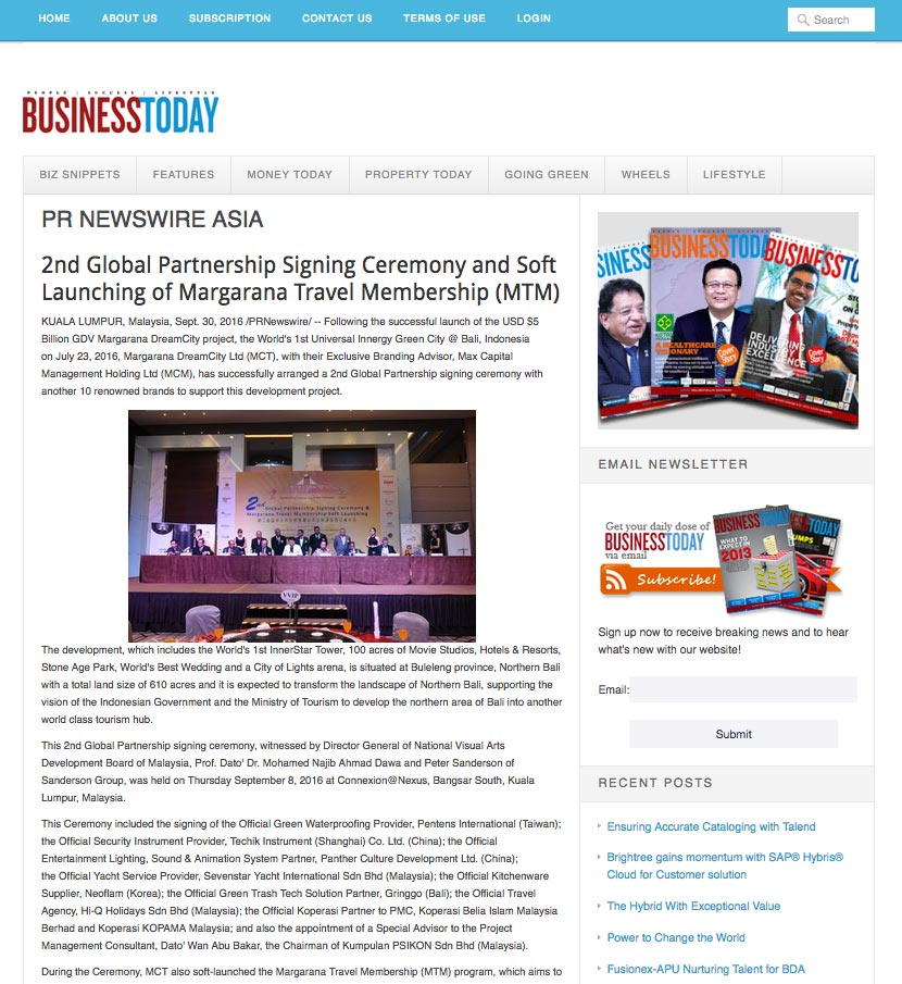 BUSINESSTODAY (Friday, 30 September 2016)