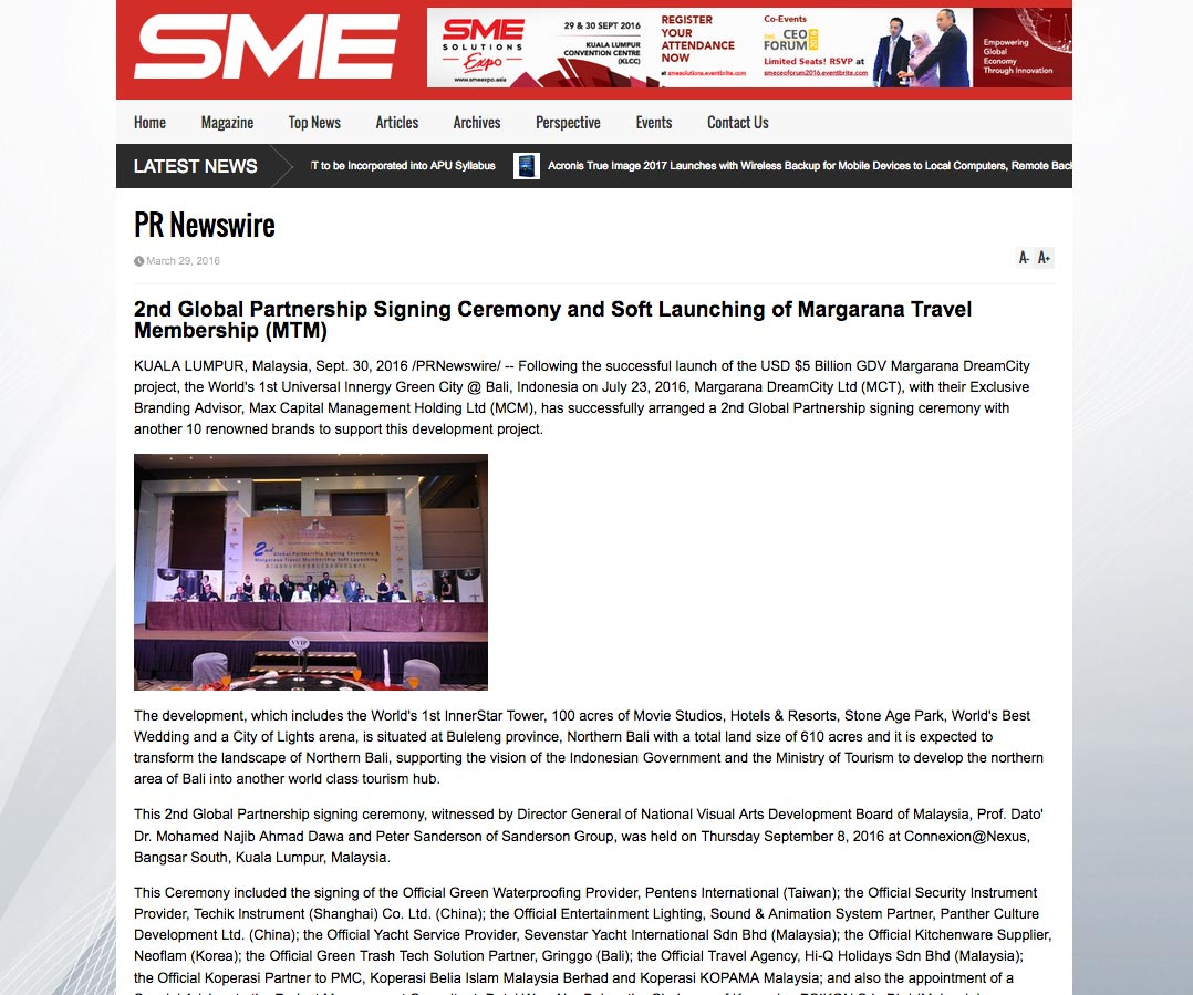 SME Entrepreneurship Magazine (Friday, 30 September 2016)
