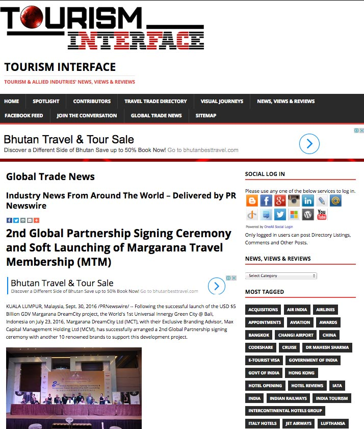Tourism Interface (Friday, 30 September 2016)
